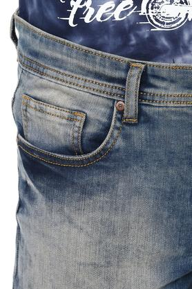 Mens 5 Pocket Washed Shorts