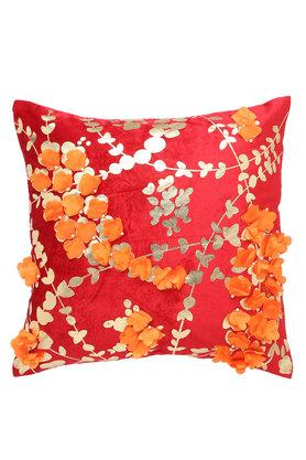 Square Printed Corsage Cushion Cover
