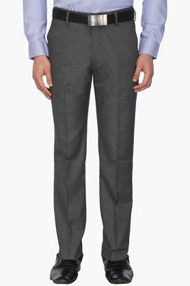 LOUIS PHILIPPE Mens 4 Pocket Slub Formal Trousers - 203054212