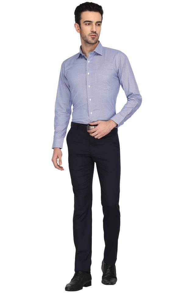 Mens 4 Pocket Solid Formal Trousers (Neo Classic)