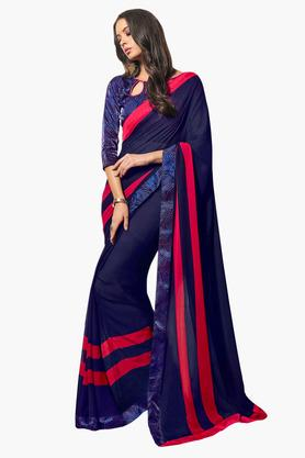 DEMARCA Womens Faux Georgette Printed Saree - 203229659