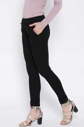 Womens 4 Pocket Coated Jeggings