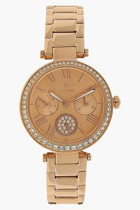 TITAN Womens Purple Rose Gold Dial Multifunction Analog Watch - NJ95023WM01J