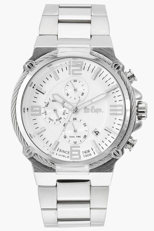 Mens Multi-Function Silver Dial Metallic Watch - LC06582330