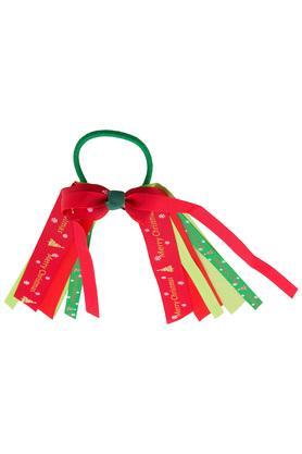 Girls Printed Ribbon Pony Tail Holder