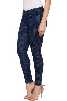 Womens 4 Pocket Dot pattern Pants