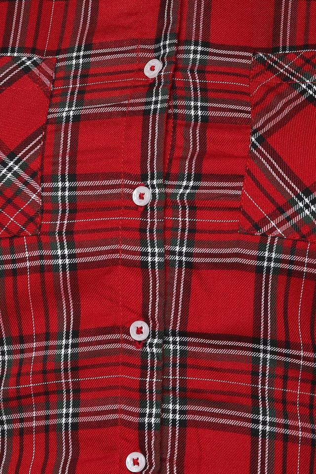Womens 2 Pocket Checked Shirt