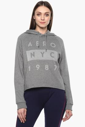 Womens Hooded Printed Pullover