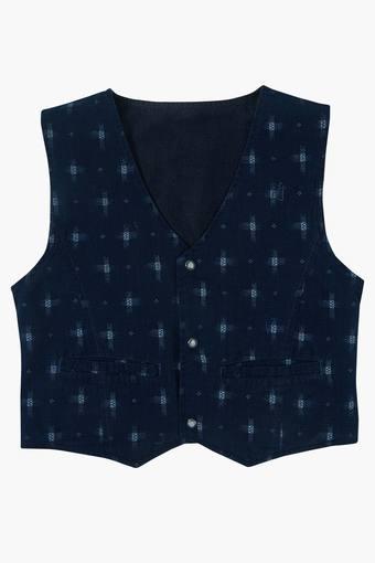 85be96e42 Buy GINI   JONY Boys V Neck Printed Reversible Waistcoat