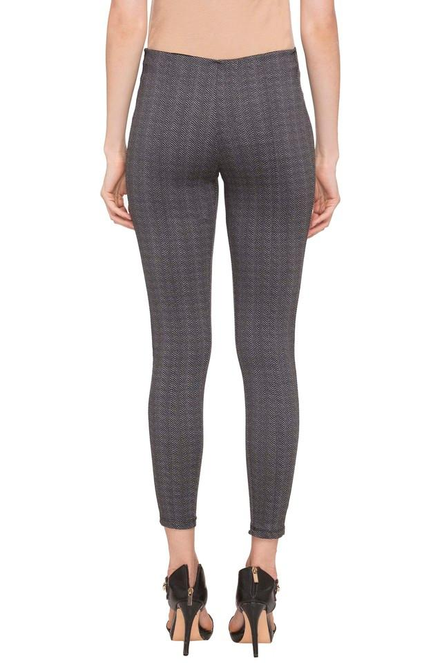 Womens 2 Pocket Herringbone Jeggings