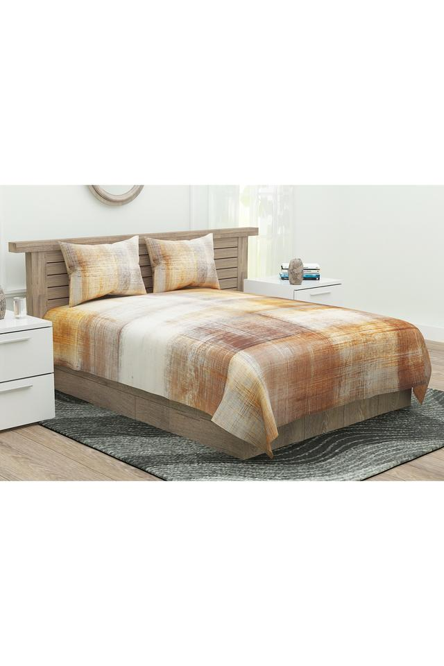 Printed King Bedsheet with Pillow Covers