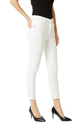 Womens Skinny Fit Coated Denim Jeans