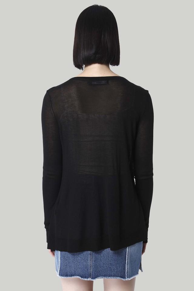 Womens Open Front Slub Sweater
