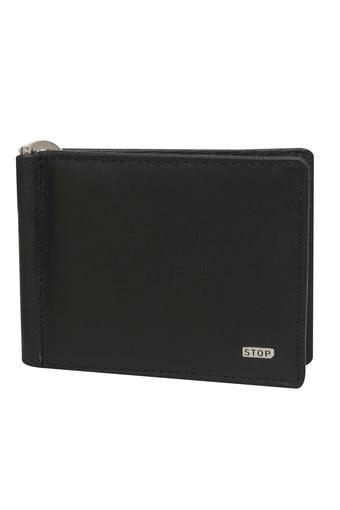 STOP -  Black Wallets & Card Holders - Main