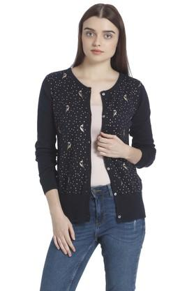VERO MODA Womens Open Neck Printed Cardigan