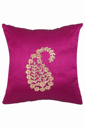 Square Embroidered Cushion Cover