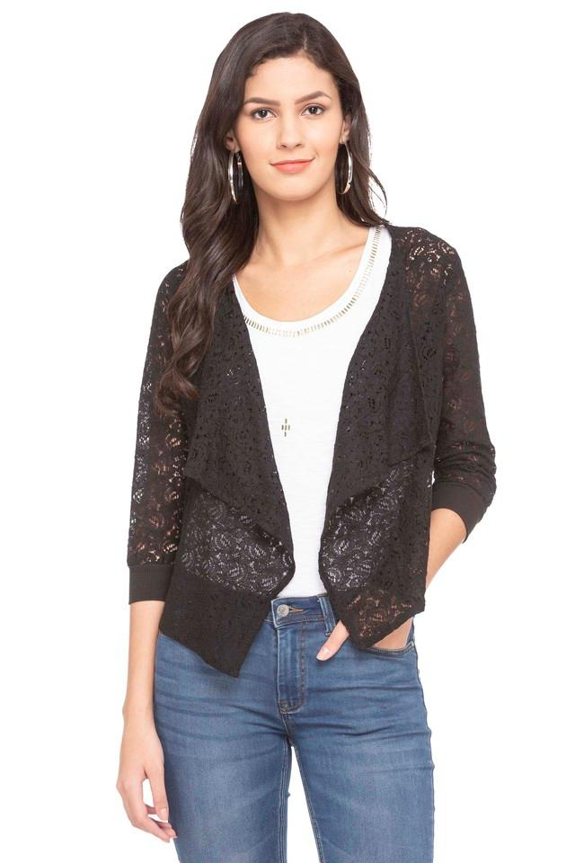 Womens Open Neck Lace Shrug