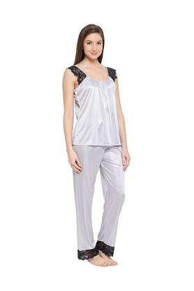 Womens Solid Nightwear Set