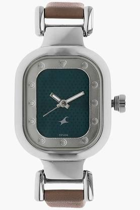 Fastrack Green Dial Leather Strap Watch - 6145SL02 image
