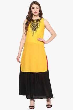 JUNIPERWomens Print High Low Kurta With Long Skirt - 203635686