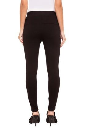 Womens Solid Side Tape Pants