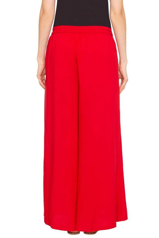 Womens Slim Fit Solid Pants