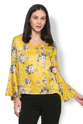 Women V Neck Printed Top