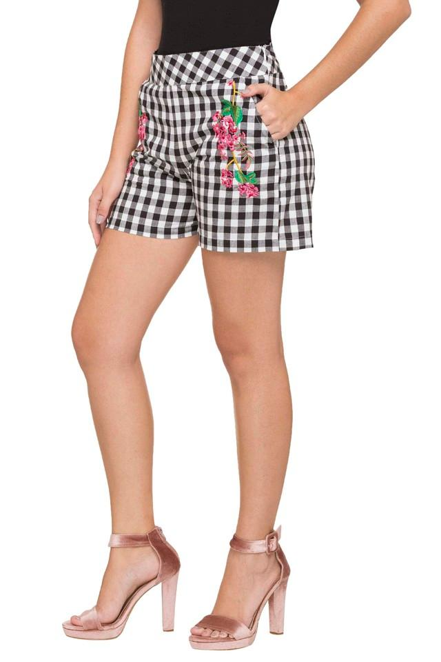 Womens Embroidered Casual Shorts