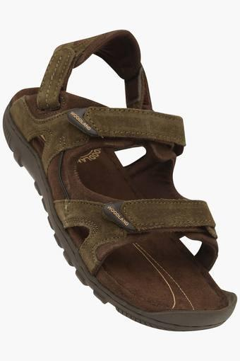 Mens Suede Velcro Closure Sandals