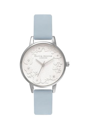 Womens White Dial Leather Analogue Watch - OB16AR03W