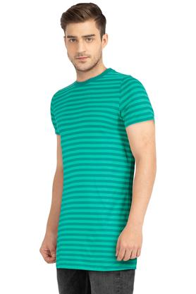 Mens Round Neck Stripe T-Shirt