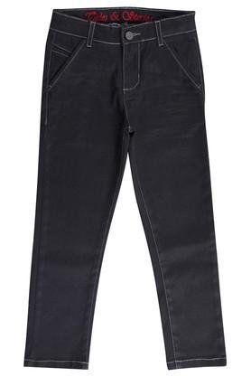 Boys 4 Pocket Coated Jeans