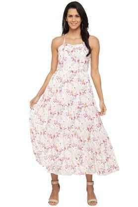 8a07661ed02d X AND Womens Spaghetti Neck Floral Print Maxi Dress