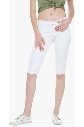 Womens 5 Pocket Coated Capris