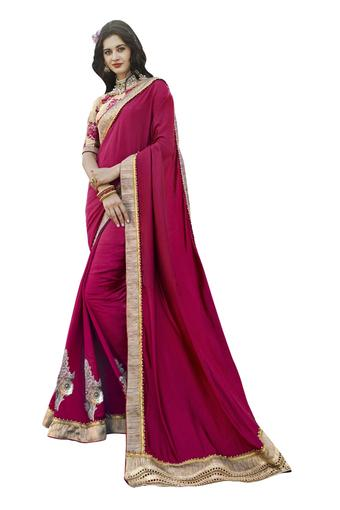 Womens Embellished Saree with Blouse Piece