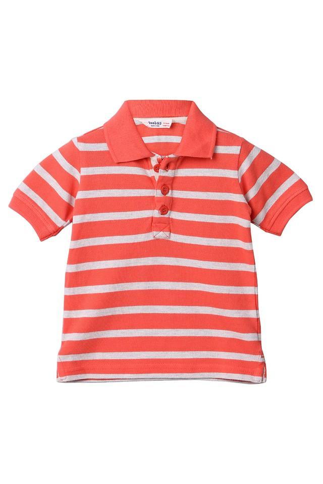 Boys Striped Polo Tee