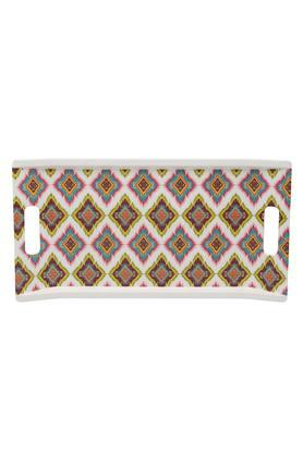 Patola Rectangular Geometric Print Serving Tray