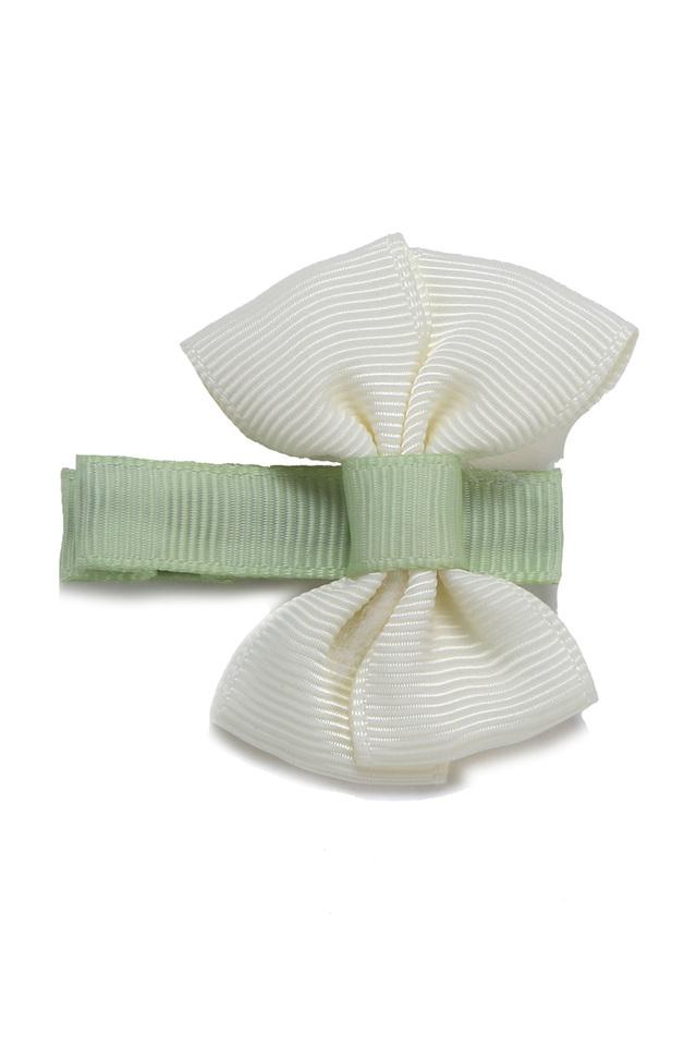Girls Striped Hair Clip with Butterfly Bow
