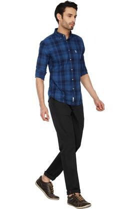 Mens Buttondown Collar Check Shirt