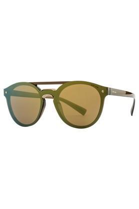 Unisex Browline Polycarbonate Sunglasses