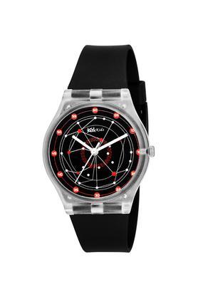 Unisex Plastic Black Dial Analogue Watch - FIBER01BK01