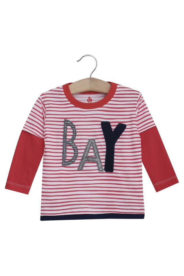 Kids Round Neck Striped and Printed Tee - Pack Of 2