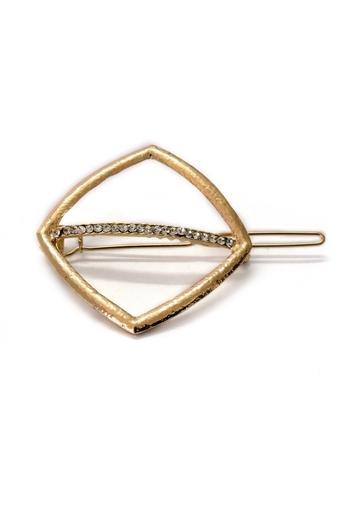 Womens Stone Studded Metallic Hair Clip