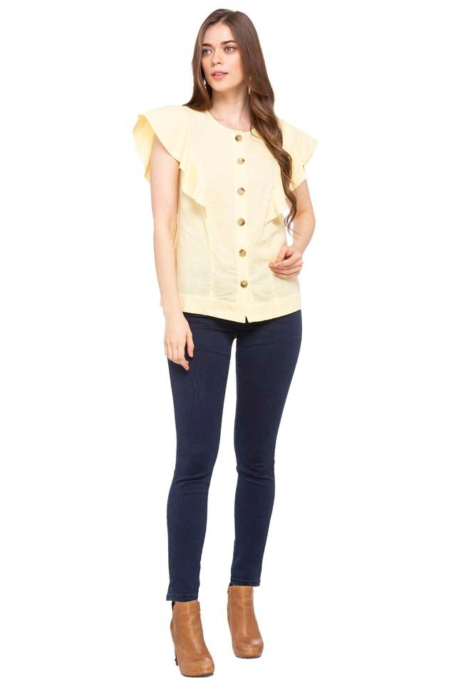 Womens Round Neck Solid Shirt