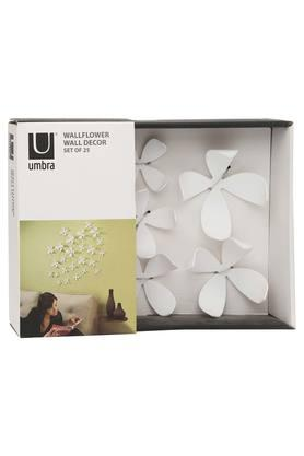 UMBRA Solid Flower Wall Decor - Set Of 25