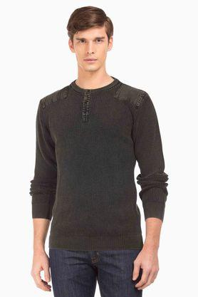 F2000 Mens Slim Fit Crew Neck Sweater
