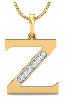 P.N.GADGIL JEWELLERS Womens The 'Z' Diamond Pendant DJPD-68