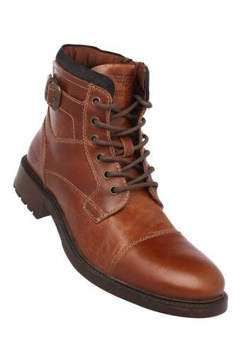 RED TAPE -  Tan Boots - Main
