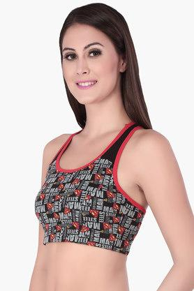 Womens Non Padded Non Wired Printed Sport Bra