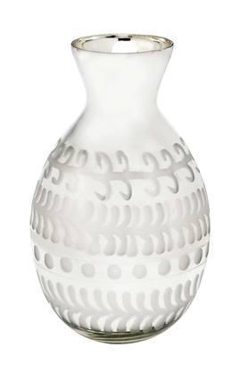 IVYCurved Printed Silver Alhoora Vase - 30 Cms